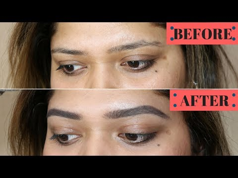 """HOW TO GET """"MICROBLADED/3D"""" STYLE NATURAL THICK BROWS - Current Eyebrow Routine 