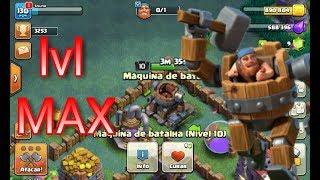 MAXIMIZEI A MAQUINA DR BATALHA!!E TESTEI(clash of clans)