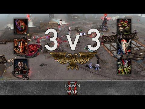 Dawn of War 2 - 3v3 | VIKING + Mycroft + johnoanimator [vs] Malakai + Snow + Telos