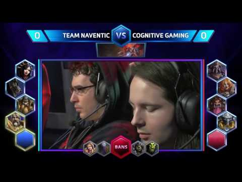 HOTS — Team Naventic vs Cognitive Gaming  Semi Finals NA Spring Regional  Match 12 Playoffs