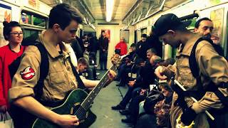 Охотники за привидениями в питерском метро! Ghostbusters plays in the St. Petersburg subway 2018.