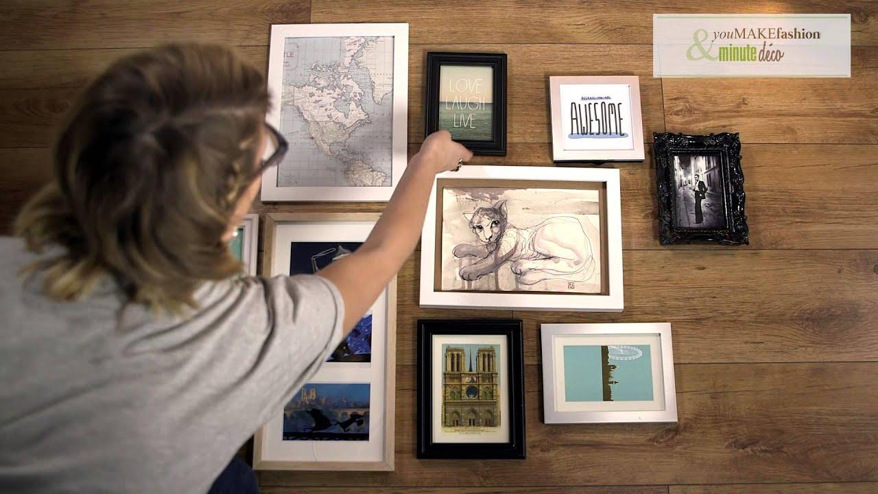 Disposition Des Cadres Sur Un Mur comment faire un mur de cadres photo - diy avec