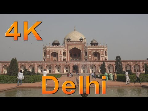 New Delhi India. One day in New Delhi. Delhi city tour. 4k ultra hd.