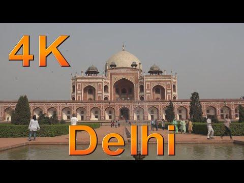 New Delhi India. One day in New Delhi. Delhi city tour. 4k ultra hd.