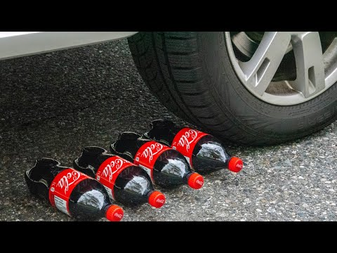 Crushing Crunchy & Soft Things By Car! - Experiment: Car Vs Jelly Block, Shaving Cream Balloons