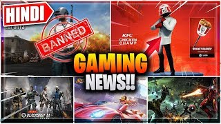 🎮Fortnite KFC🍤 Skin, PUBG Ban, COD Like Game, New Avengers Game, Pokemon Go Hindi Gaming News
