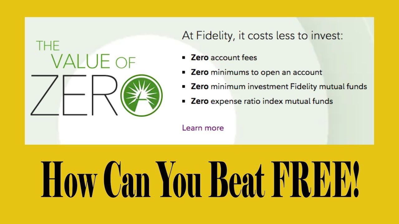 Invest For FREE With Fidelity ZERO Expense Index Funds!