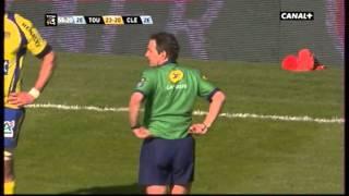 Top14 Toulon vs Clermont Essai Giteau refusé après un en avant qui n