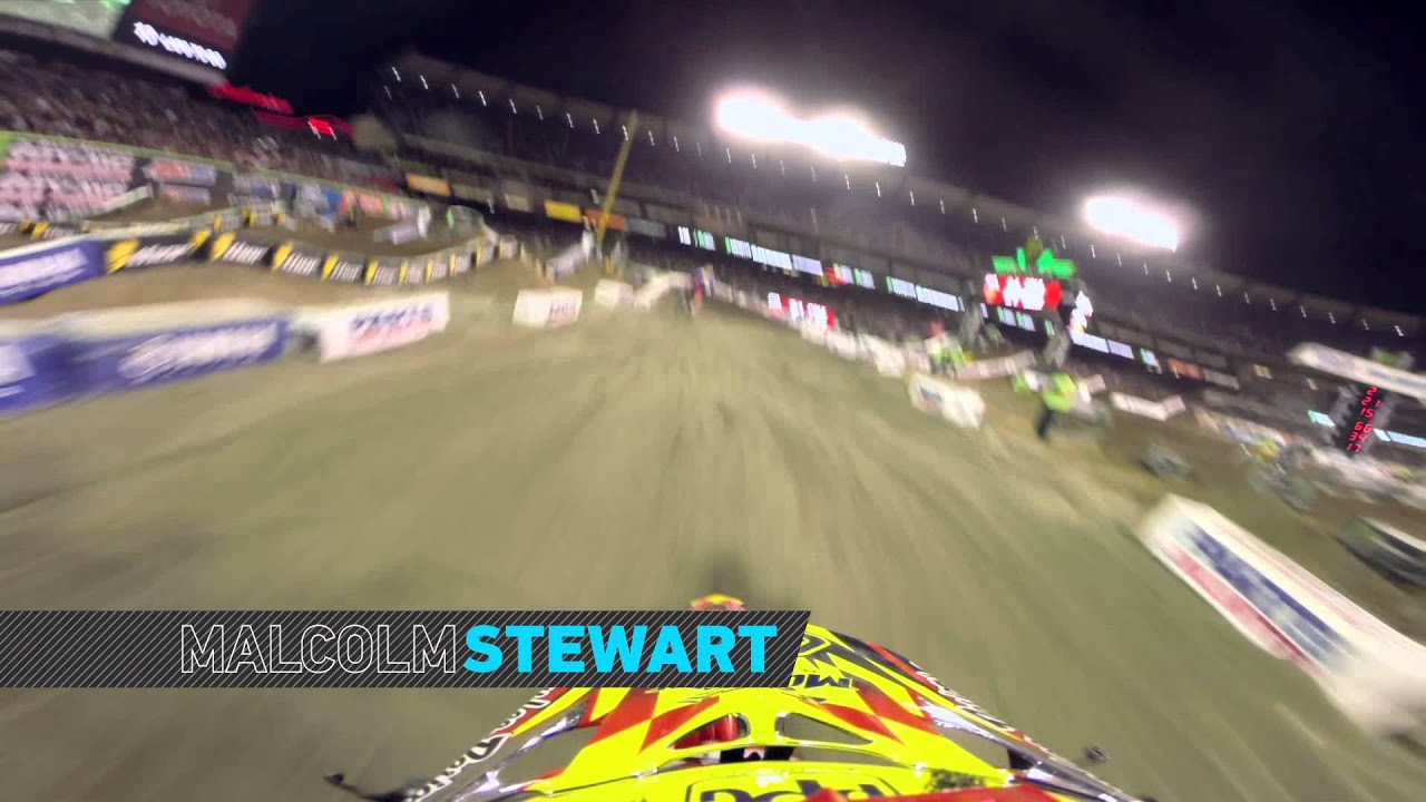 GoPro HD: Jason Anderson and Malcolm Stewart Battle 2014 Monster Energy Supercross from Anaheim 3 - Motor Informed