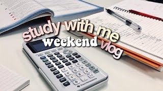 weekend vlog + stressing out about math || revisign