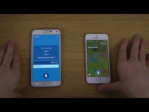 Samsung Galaxy S5 S Voice vs. iPhone 5S Siri