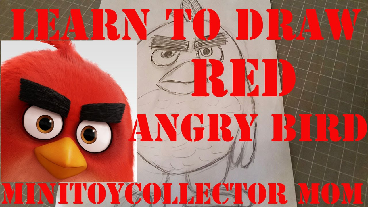 Learn To Draw RED From New Angry Birds Movie Easy Step By