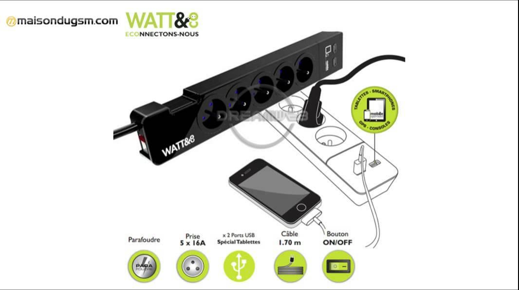 multiprise parafoudre watt&co - youtube