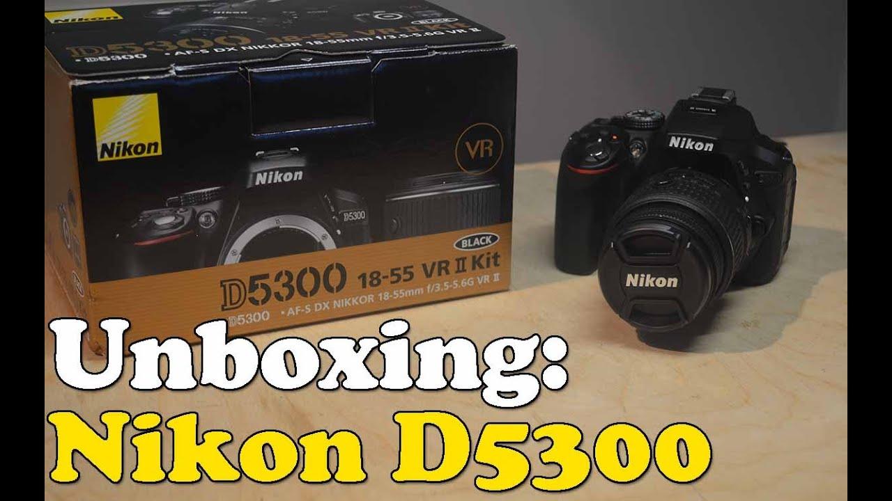 Unboxing Nikon D5300 18 55mm Vr Ii Lens Kit Youtube Kamera Dslr Lensa Af S