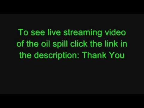 Live Streaming Video of Oil Spill - Link in Description