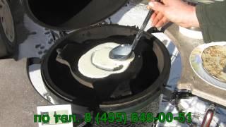 Как печь блины на гриле Big Green Egg