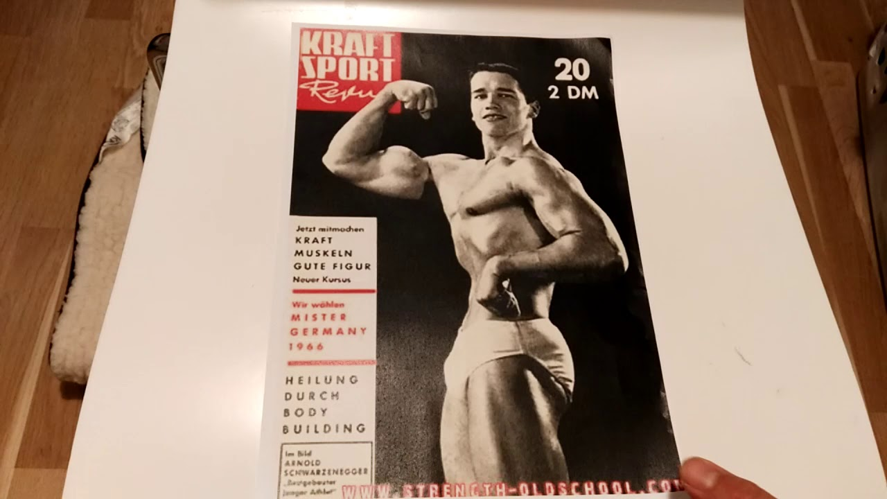 Arnold Schwarzenegger's first magazine cover! Arnold: The ...