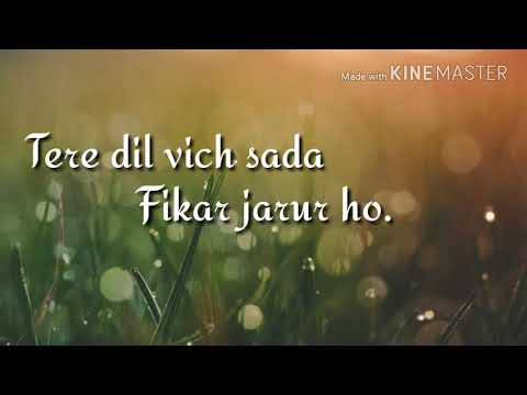 Meriyan gallan vich for watsap video song|| with lyrics by Tamin hussain