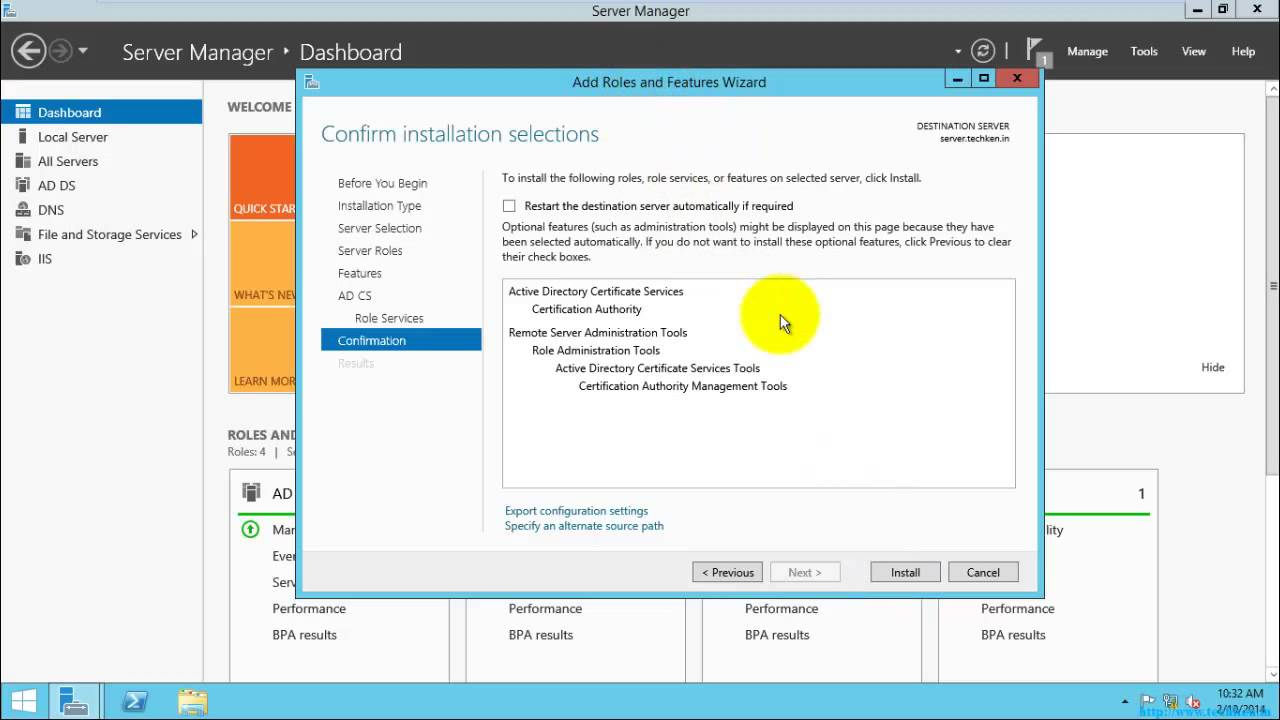 How To Install Active Directory Certificate Services Adcs