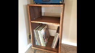 DIY -Wood Record Player Stand