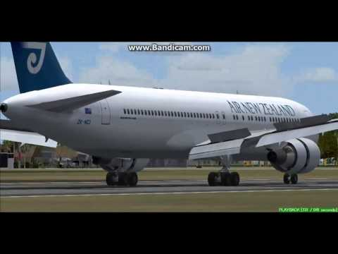 Air New Zealand B767 Avarua Rarotonga International Airport Cook Islands Landing FS9
