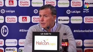 Rueda de prensa de Cristóbal Parralo tras el CF Rayo vs AD Alcorcón (2-0)