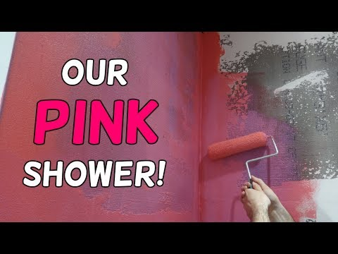 Our Pink Shower?!  (Walls Are Done!)