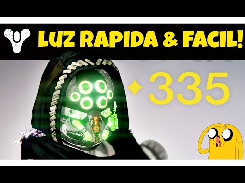 COMO SUBIR NIVEL DE LUZ FÁCIL & RÁPIDO! (TRUCOS PARA LLEGAR A 335!) | DESTINY