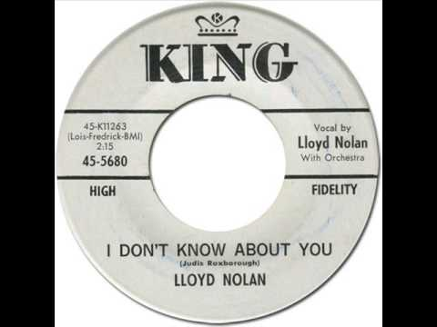 LLOYD NOLAN - I Don't Know About You [King 5680] 1962