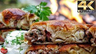Примітивного приготування їжі 4К - хенд-мейд рецепт Борек (розслабляючий приготування THREAPY)