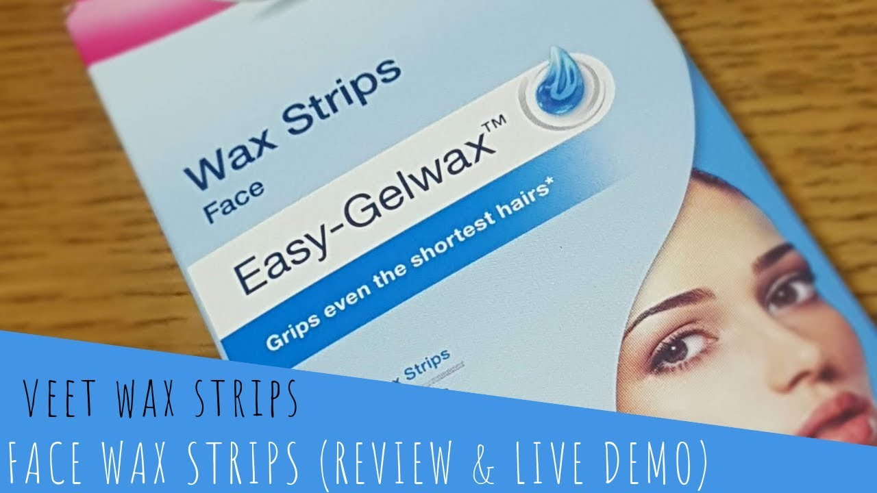 Veet Wax Strips For Face Live Demo How To Use Wax Strip On