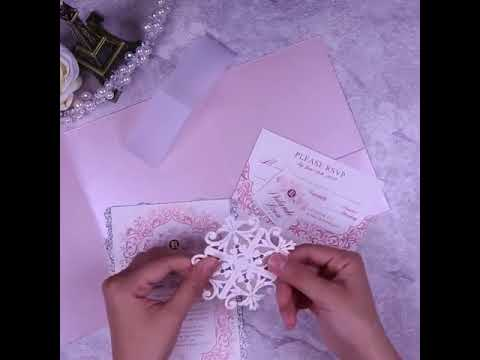 DIY laser cut flaps for wedding invitations