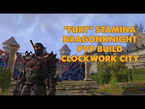 "ESO - ""FURY"" Stamina Drgaonknight PVP Build - Clockwork City"