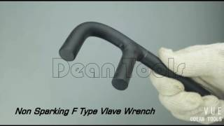 carbon steel f wrench valve spanner ,