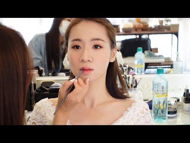 自助婚紗日-短髮新娘/妝髮造型vlog-WINNI小閔妝髮造型