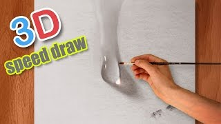 Drawing AMAZING realistic water drop / 3D Illusion painting