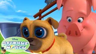 🐾  Дружные мопсы - Серия 8 Сезон 1 - Мультфильмы Disney