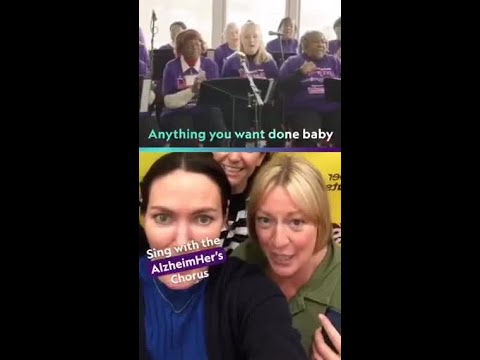 Facebook camera effect allows people to sing with the AlzheimHER's Chorus