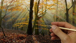 Painting Autumn Rays of Light  Episode 183