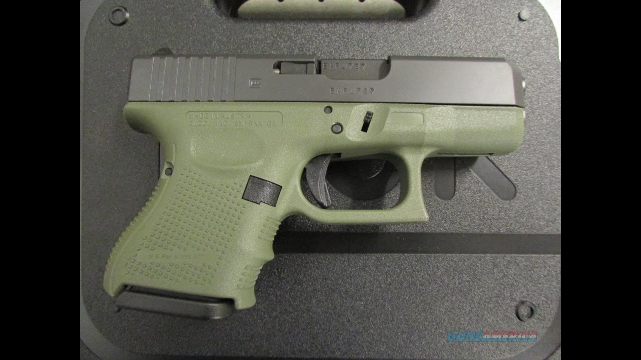 Glock 26 Gen 4 Sage Green - YouTube