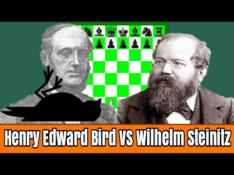 Wilhelm Steinitz Mematahkan Jurus Bird Opening..!!Henry Edward Bird vs Wilhelm Steinitz, London 1866