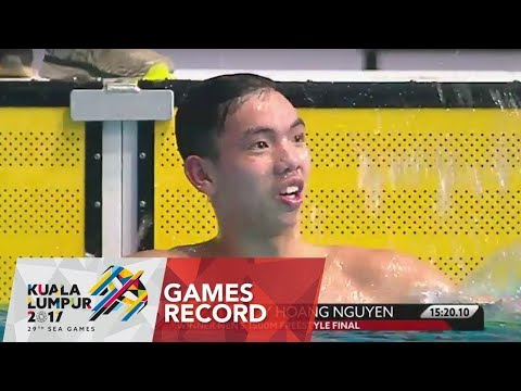 Swimming Men's 1500m Freestyle - Final  | Gold Medal | Games Record | 29th SEA Games 2017