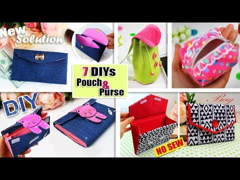 7 AWESOME DIY POUCH BAG DESIGN BY OWN HANDS // Fantasticly Easy Way to Make the Purse Bag