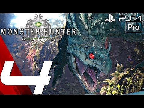 Monster Hunter World - Gameplay Walkthrough Part 4 - Tobi-Kadachi Hunt & Capturing (PS4 PRO)