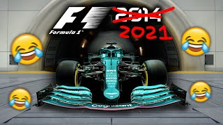 PLAYING F1 2021 CAREER MODE!!!   (... but it's on the 2014 game?!)