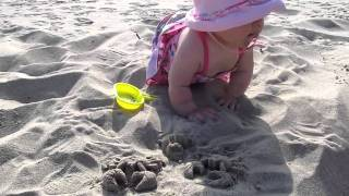 Sadie playing in the sand. Thumbnail