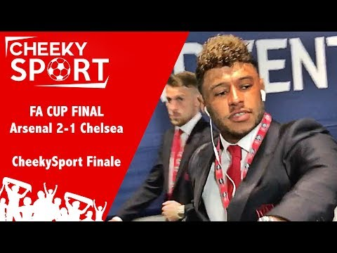 Wenger Stays   CheekySport Meet Arsenal & Chelsea Players at FA CUP final   Arsenal 2-1 Chelsea