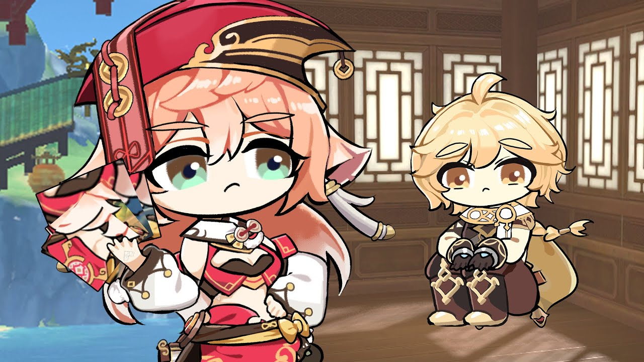 Yanfei sends Aether to jail