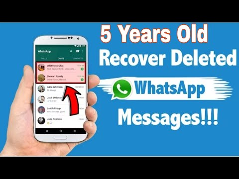 How To Recover 5 Years Old Deleted Chats In Whatsapp In Android? | HINDI |