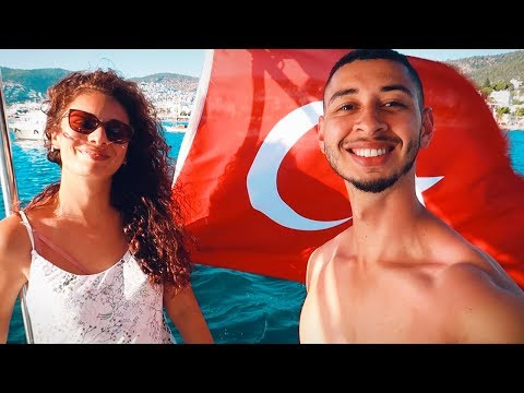PARADISE ON A BOAT IN TURKEY! 🇹🇷 Turkish Travel Vlog | Jay & Rengin